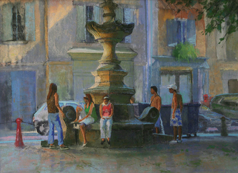 St. Remy Fountain, Provence, FR