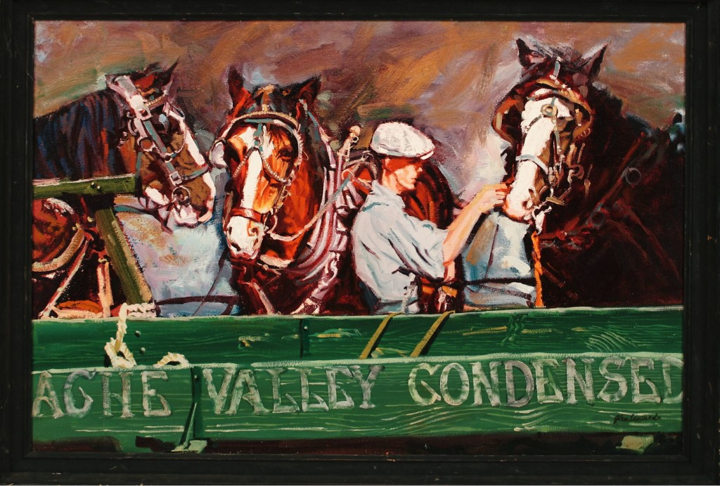 Cache Valley Condensed 20 x 30 oil $3,500 by Glen Edwards