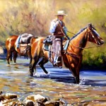 Cool Water Crossing 18 x 24 oil $1,100 by Rick Kennington