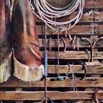 Horse Barn Wall (1) 18 x 13 watercolor by Robert Talbert $1,600
