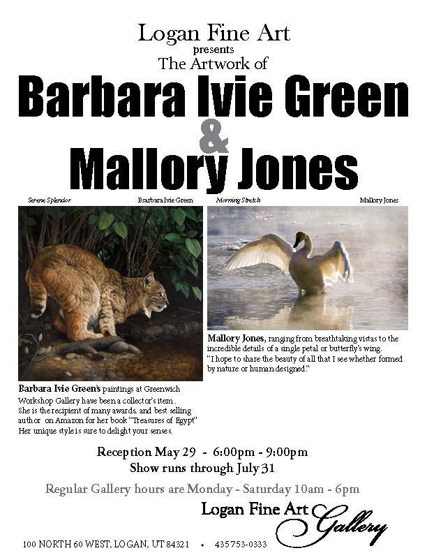 Barbara Ivie Green & Mallory Jones May 7
