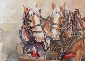 @Work Force 14x11 Watercolor ( websize ) Maren Scott $575.00