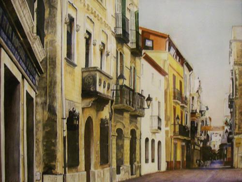 Balconies,Balconies,Balconies 32.5 x 26.75 (500dpi) watercolor by Helen Lauritzen_$786 - Copy