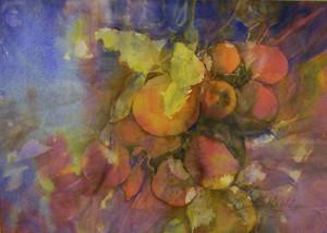 Bountiful Harvest 14 x 10.5 watercolor_w_Kristine Groll $1,000