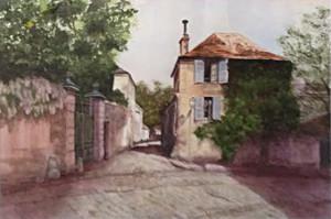 Chatenay Helen Lauritzen 27x23 watercolor_websize $750.00