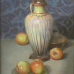 Classical Vase with Apples 18 x 24 pastel (websized)  Dan Barsness $2,500