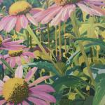 Coneflowers_ 21.5 x 29.75 latex paint_w_ Deni Morrison_$700 (2) - Copy - Copy