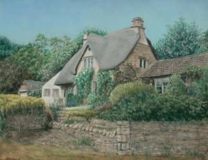 Cotswood Cottage _ 30x40 Pastel_ websize_ Linda G Paulsen$765.00