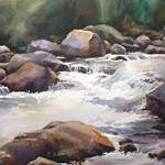 Dry Fork Canyon_22x30 Watercolor _websize_ Jeannie Millecam NFS