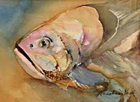 Fish Beaty  Watercolor Kristine Groll (websize) $600.00