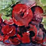 Garden Fresh Brenda Brunello 5x7 Watercolor $125.00