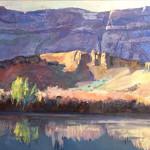 Green River Sunrise  16x20 Oil websized Roxane Pfister$450.00