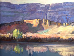 Green River Sunrise  16x20 Oil websized Roxane Pfister$450.00