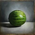 Green Stripes Tyler Swain 24x24 Oil_web_ $1600.00