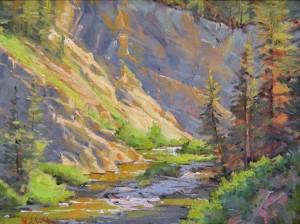 Little Grey's River_12 x 16 oil_Natalie Shupe_ $700 artist proof