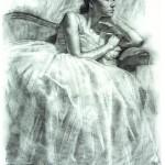 Melissa_ 30x24 Charcoal on paper_websize_ Robert T. Barrett _NFS