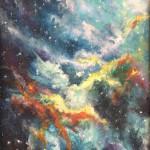 Nebula I Beginning   8x10 acrylic _websize_ Maria Lawrence$600