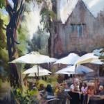 Outdoor Seating 18 x 14 watercolor (w33)$900_Kristi Grussendorf (1)