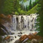Rushing Waterfall_ 9 x 12_ Acrylic_w_ Ruth Williams $350 - Copy
