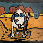Skippy Visits Canyon Land 11x20 websize_Tim Peterson_Color Reduction_$450.00
