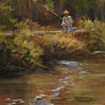 The Fisherman 28x16 oil _ Sandra Whitby _ $800.00