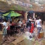 To Market Kristi Grussendorf 30x22_websize_ watercolor $2200.00