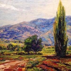 Tree Farm Lane 20 x 20 oil_websize- by Brad Teare $2,800