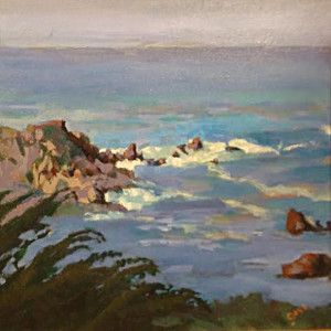 Waves At The Point Garr Crookston 16x20 Oil $490.00
