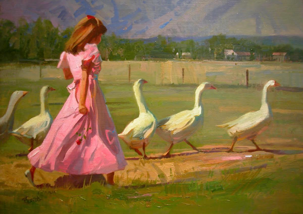 Disturbing the Geese_17 x 23 oil $2900