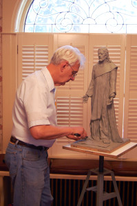 Gene Needham'Christ figure in His Sculpting titled Transfiguration