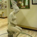 bTWEEN HEAVEN AND bEARTH  28 x 9 x 9 bronze by Dan Mortensen _$6,500