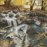 Falling Waters 30 x 20 pastel $2,400