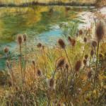 Logan Canyon Pond 22 x 30 pastel $2,400