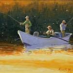 Evening Hatch oil on canvas 9 x 12 $750