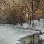 Winter Solitude 18 x 24 pastel $1,800