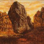 Zion 1919 serigraph & pastel 16 x 22  $850