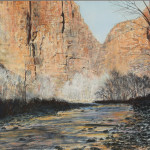 Winter's Peace In Zion 13 x 17 pastel $ 1800