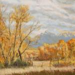 Fall Along The Yellowstone River 16 x 20 Pastel $1,800