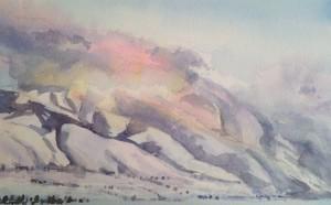 Behind The Wellsvilles_ 10.5 x 8.5 watercolor_ $325_ Jill Bleisner