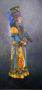 Chinese Dancer_oil_ 35 x 17 _ $1,250 lr (1)