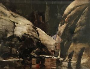Hidden Pass Lake Powell_ 11 x 13.5_watercolor_ Maurice Wiberg_NFS