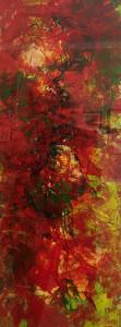 Hope Shining Through 9.5x28 acrylic by Maurice Wiberg  NFS