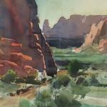 Jeannie Millicam $250 Snow Canyon 6.75x10.5 watercolor