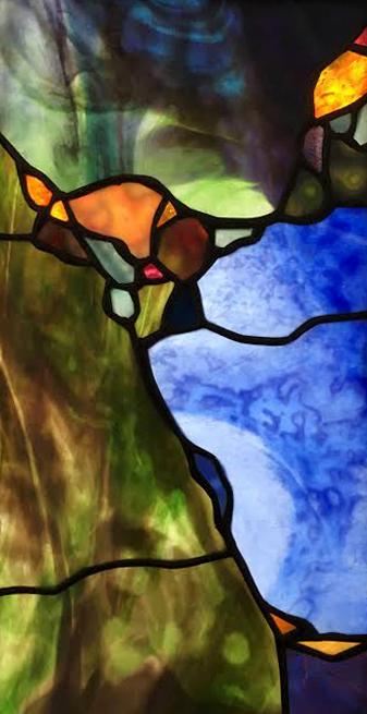 Landscape in Purple-an ariel veiw 7.5x 14.75 $290