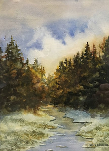 On The Seventh Day 9 x 6 watercolor by Lori Burchinal $275