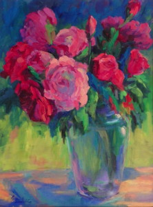 Peonies and Rose_ 24 x 18 oil_ $2,800_