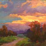 Sunset's Glow Ruth Stringham Nordstrom 20x24 Oil $2400.00