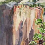Zion Cliffs Mary Pusey 22x7 watercolor $225