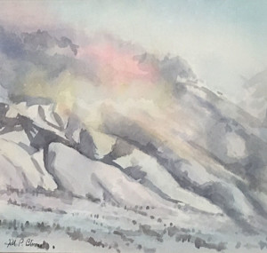 -Behind The Wellsvilles_ 10.5 x 8.5 watercolor_ $325_ Jill Bleisner