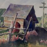 -Diane Siegfried $200 10x8 watercolor Shed #1